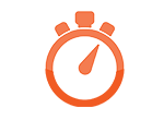 image of a stop watch icon for ABOUT MTI